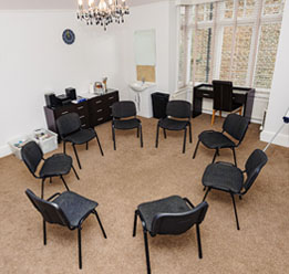 Group Therapy Room With Chairs