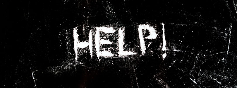 Photo of the word help written in cocaine