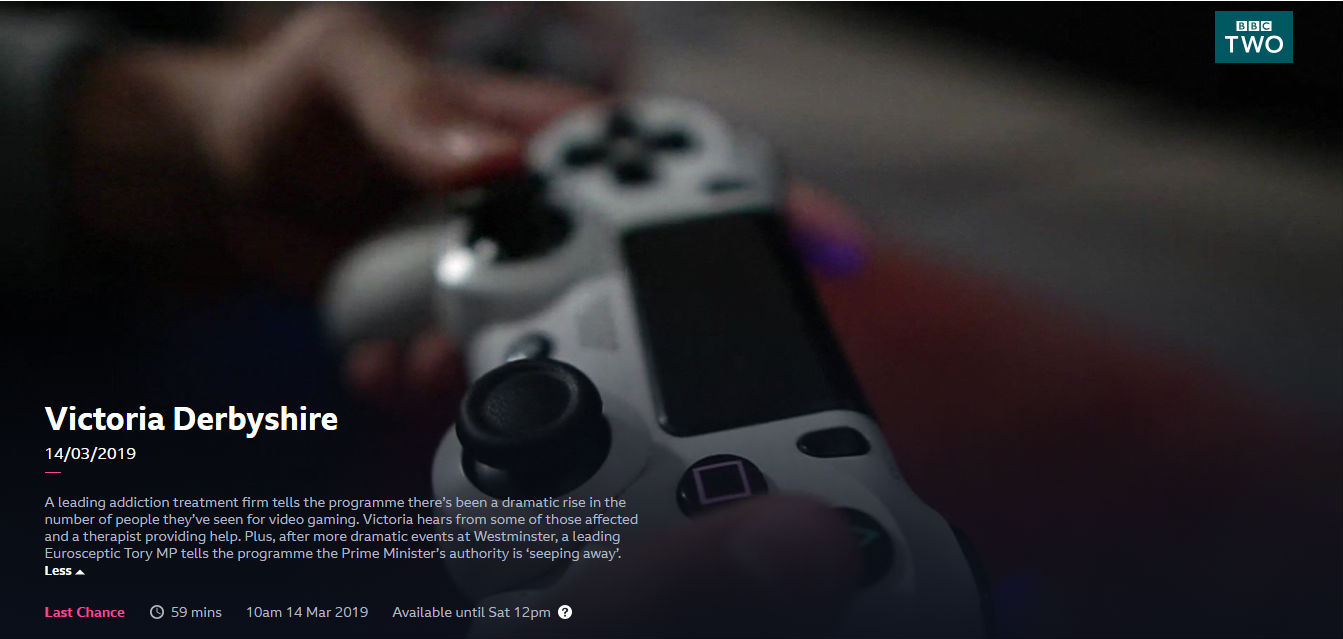 BBC UKAT Sees a Rising Tendency for Gaming Addiction Admissions
