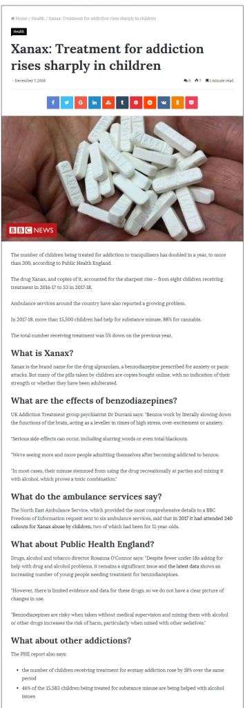Moscow News Daily: UKAT Specialists about the Rising Xanax Use in Children
