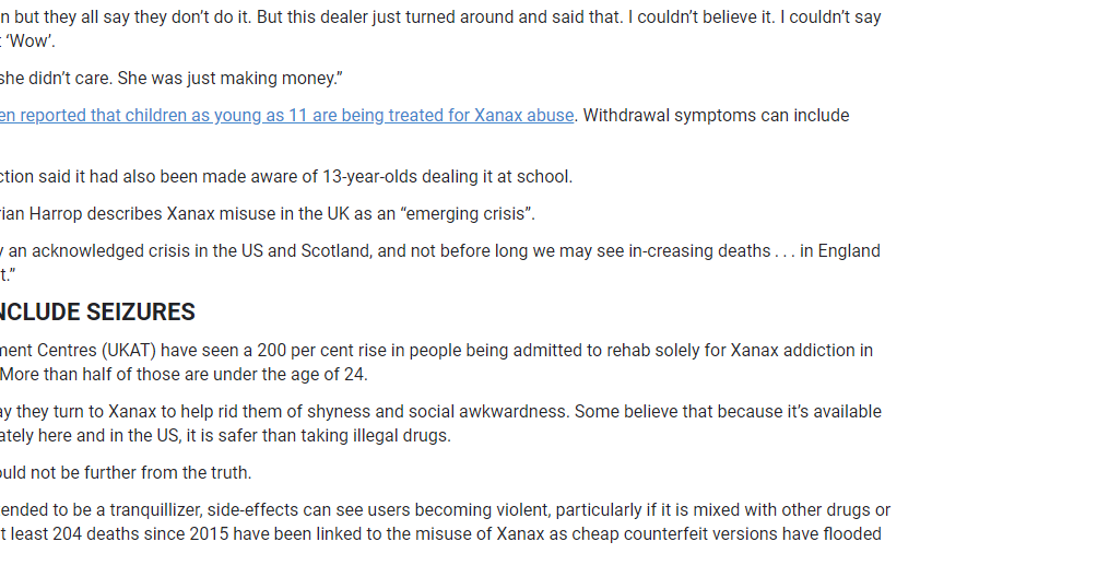 The Sun UKAT Registers 200 Percent Rise in Xanax Addiction Admissions