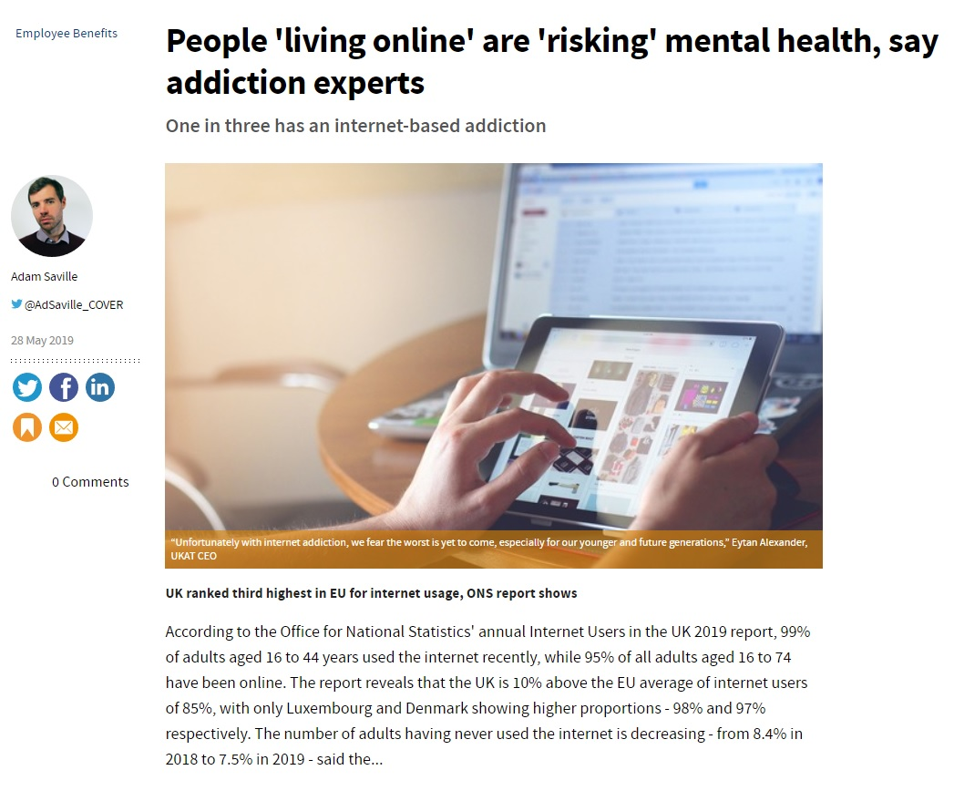 Cover - UKAT's CEO Says the Worst Is Yet to Come Regarding Internet Addiction