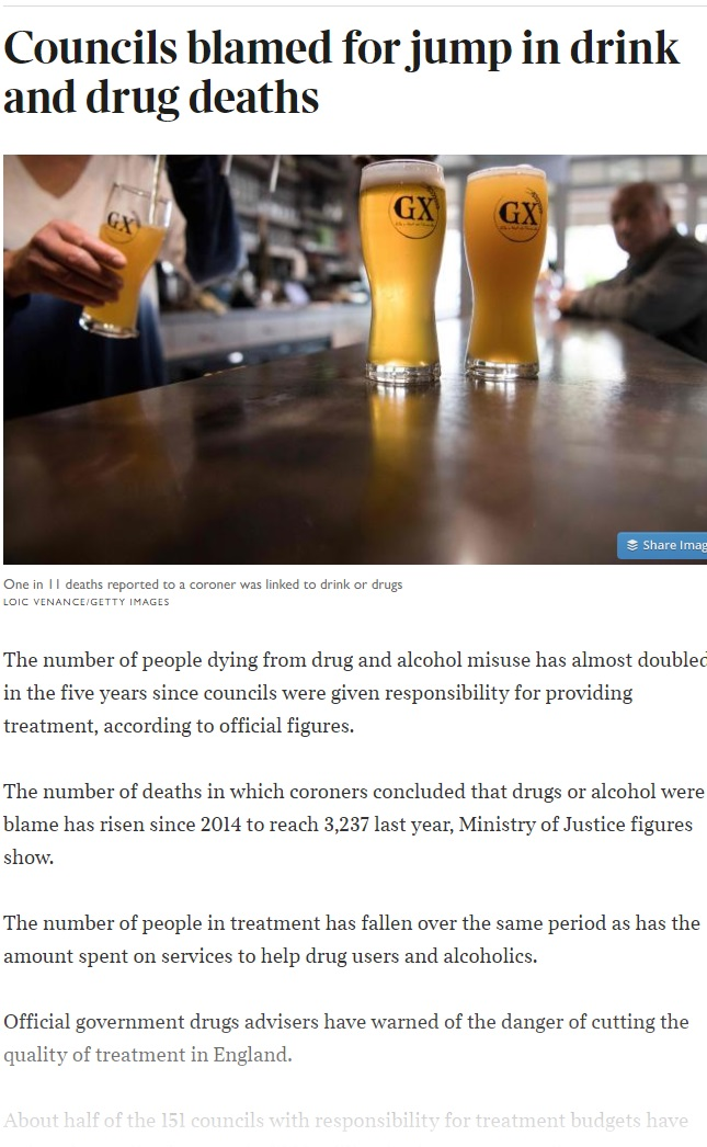 The Times - Addiction Specialists on the Drink and Drug Deaths in the UK