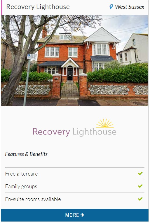 Recovery lighthouse - AXA provider